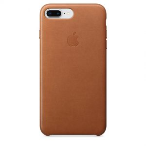 3fb54dd8241def Apple Leather Case skórzane etui ochronne do iPhone 7 / 8 Plus naturalny  brąz saddle brown